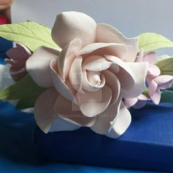 Polymer Clay Flower by ThiaCrish