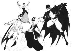 Edwardian Bat Family by BevisMusson