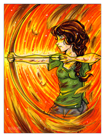 Girl on Fire by keh-arts