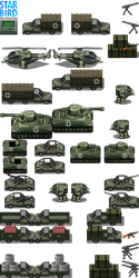 Military Vehicle Tileset - RMMV RTP Edits by StarbirdResources