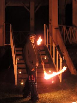 Imbolc Fire Dancing 6 by RobBarker