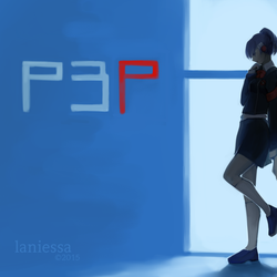 red in a sea of blue by laniessa