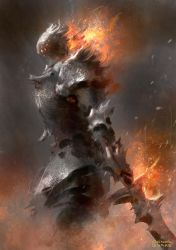 Ash Knight 2 by conorburkeart