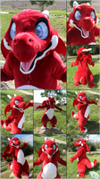 Skrom the Red Dragon Fursuit - Kemono Style (2018) by Eternalskyy