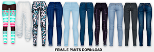 MMD Female Pants DL by UnluckyCandyFox