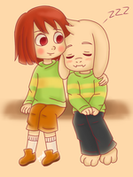 Chara And Asriel Dreemurr by Jany-chan17