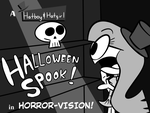 A Hatboy and Hatgirl Halloween Spook [TITLECARD] by rachetcartoons