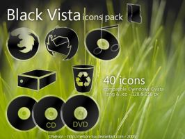 Black Vista Icons Pack by Nelson-Tux