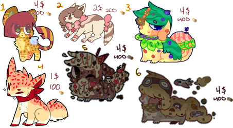 CHEAP ADOPTS!! (4/6) OPEN | ADOPTS by poqq