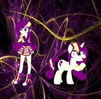 Purple Strikes and pony version by MurielliEQG
