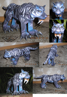 Tiger from WoW papercraft 2 by Weirda-s-M-art