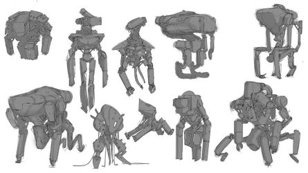 Droid sketches by MatLatArt