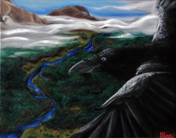 Raven's View by MortNevermore