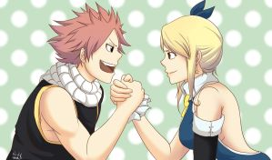 Fanart - Lucy and Natsu - Fairy Tail by Nicky-Milky