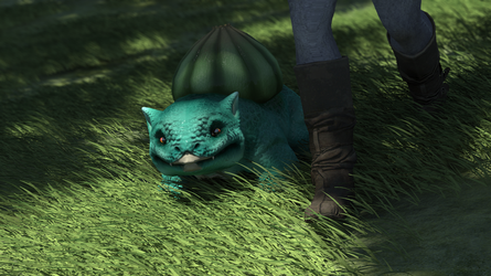Bulbasaur On A Walk by Prophet-Blaq