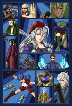Cosmic Star Heroine character images by slash000