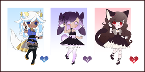 KEMONOMIMI ADOPTS (CLOSED) by meowcuties