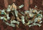 Turok with dead sleg warriors by RodEspinosa