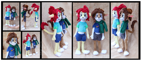 Angie and Jack Custom Anthro plush by Nazegoreng