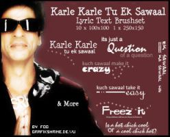 Karle Karle..Song Textbrushset by FooWater