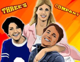 three's company roommates by MaryShan