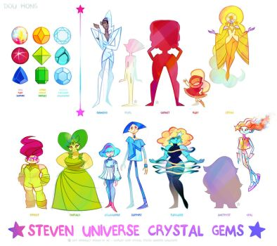 Steven Universe Crystal Gems +Complete+ by dou-hong