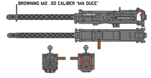 Browning M2 .50 caliber Ma Duc by bagera3005