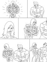 Muscle Growth - page 4 | Commission by The-Muscle-Girl-Fan