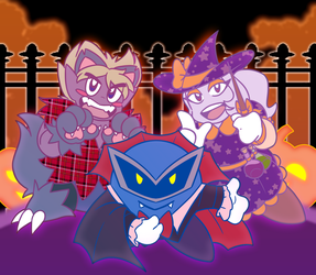 [Kirby] Happy Halloween! by one-starry-knight