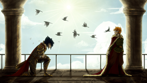 The knight and his prince by Chiibe