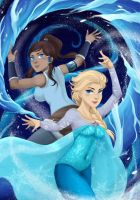 Elsa And Korra by gin-1994