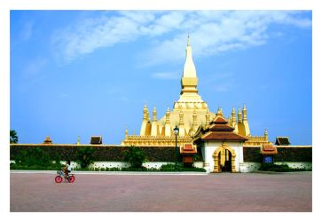 Golden temple and beloved bike by spoonhead