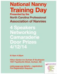 National Nanny Training Day Flyer: Green by theinfamousj