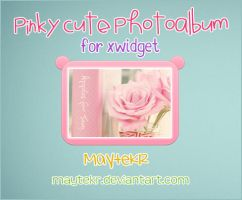PinkyCute Photoalbum for XWidget by MayteKr