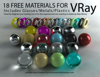 18 Free VRay Materials by PAULW