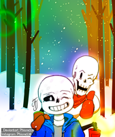 Undertale - Good old Past by Phione538