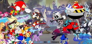 Sonic Forces and MLP Movie : Heroes vs Villains by trungtranhaitrung