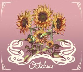 October Sunflowers by BabaKinkin