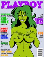 She-Hulk Playboy Cover by MCRE1201