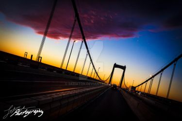 Walt Whitman Bridge by SkeIator