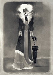 A Curious Photograph of a Lady from Another Time by rosy-Clockomaton