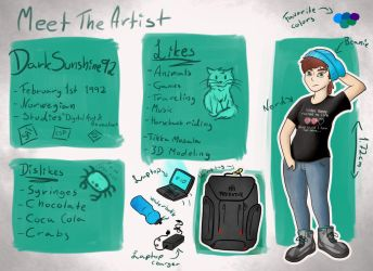 Meet the artist by DarkSunshine92