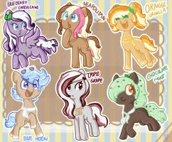 Ice Cream themed ponies (auction) - CLOSED by adoptchick