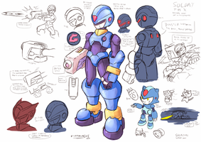 ZX Reburst/Origins Concept Art: Soldat and Solnyan by SaitoKun-EXE