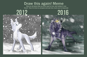Draw this again meme by WolfLinx