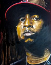 Talib Kweli on wood by DragonReverie76
