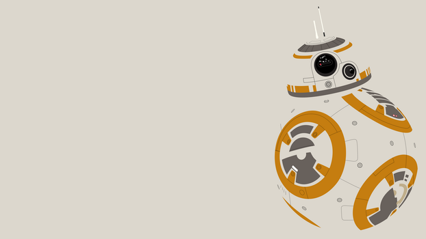 BB-8 Minimalist Wallpaper by BrulesCorrupted