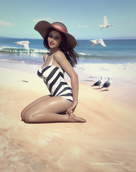 Gloria Gold loves summer! by BubbleCloud