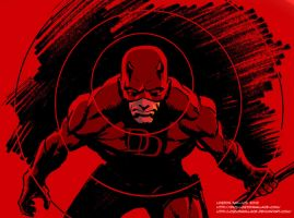 Daredevil  Close Up by LostonWallace