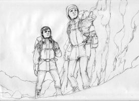 Spirou and Fantasio in snow by Jemppu